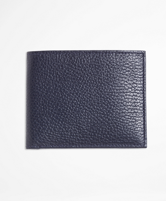 Pebble Leather Wallet Navy