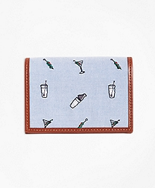 Martini Embroidered Card Case