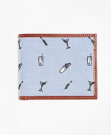 Martini Embroidered Wallet
