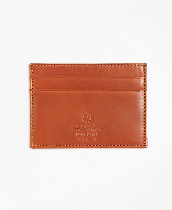 Vegetable Tanned Leather Card Case Cognac