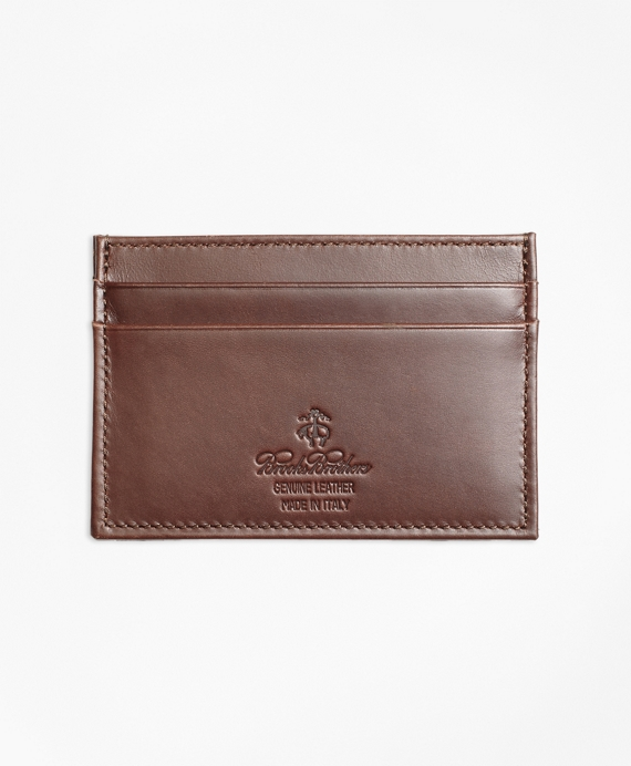 Soft Leather Card Case Brown