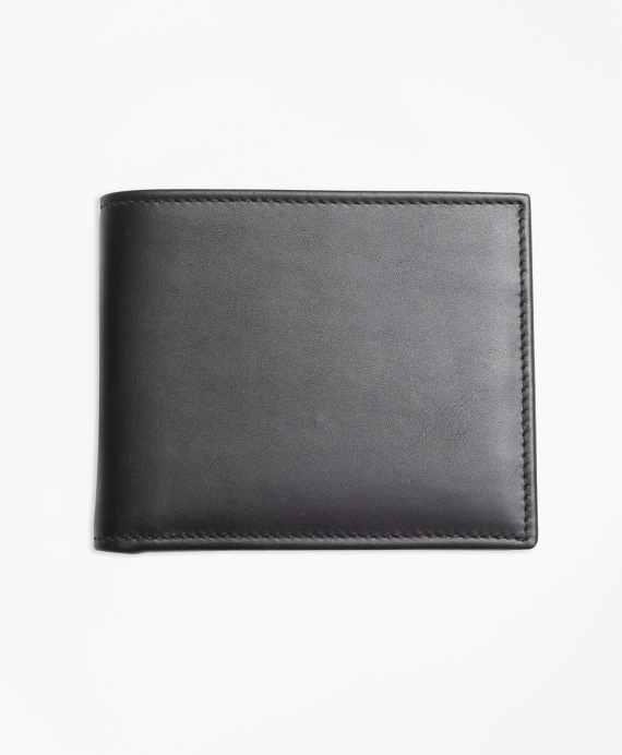 Leather with Black Watch Wallet Black