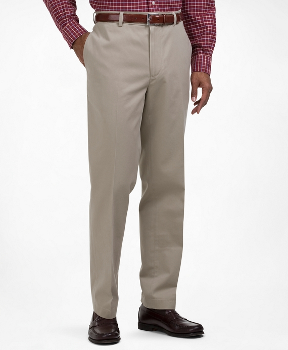 Clark Fit Plain-Front Lightweight Advantage Chinos® Khaki