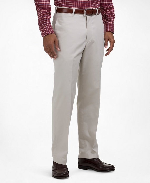 Clark Fit Plain-Front Lightweight Advantage Chinos® Stone
