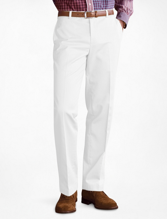 Clark Fit Plain-Front Lightweight Advantage Chinos® White