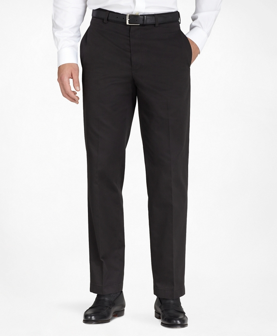 Hudson Fit Plain-Front Lightweight Advantage Chinos® Black
