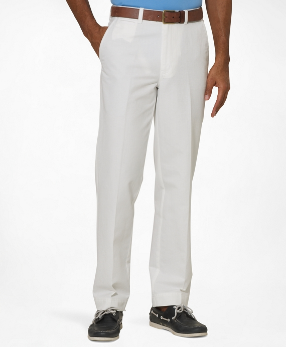 Hudson Fit Plain-Front Lightweight Advantage Chinos® White