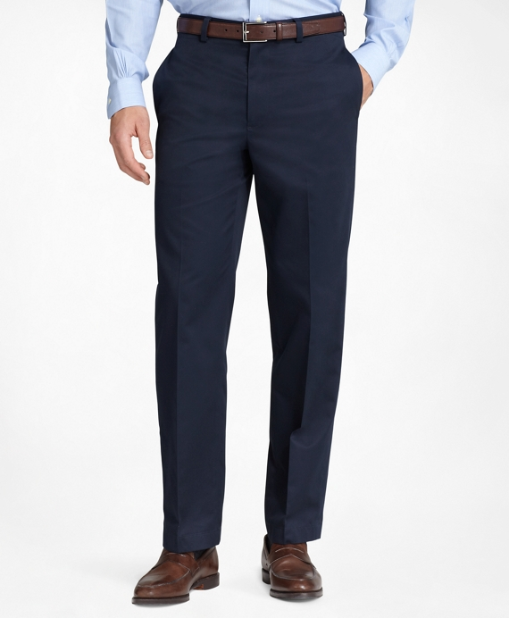 Milano Fit Plain-Front Lightweight Advantage Chinos® Navy