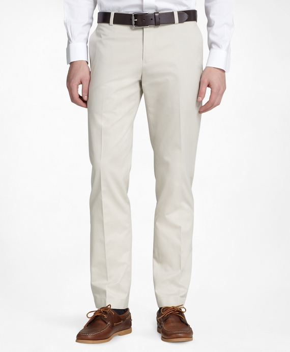 Milano Fit Plain-Front Lightweight Advantage Chinos® Stone