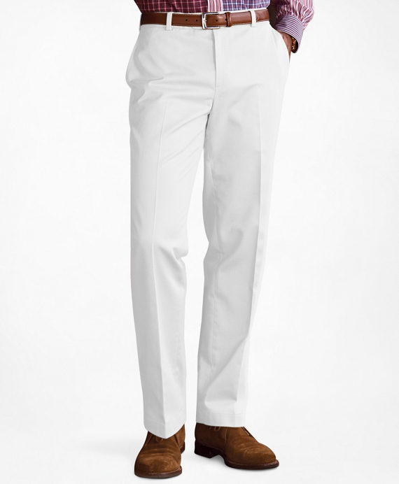 Milano Fit Plain-Front Lightweight Advantage Chinos® White