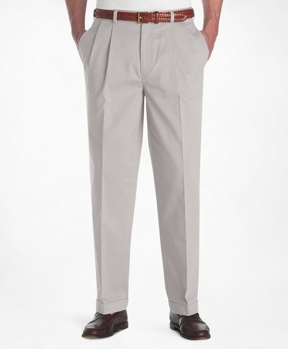 Elliot Fit Pleat-Front Lightweight Advantage Chinos® Stone