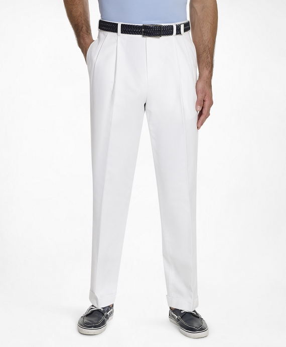 Thompson Fit Pleat-Front Lightweight Advantage Chinos® White