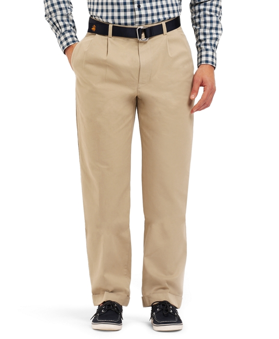 Elliot Pleat-Front Linen and Cotton Chinos Khaki