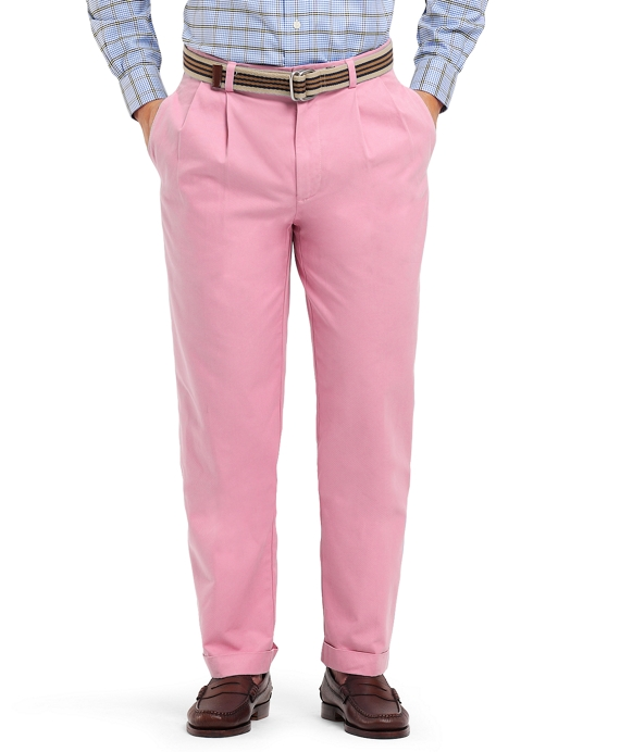 Elliot Pleat-Front Linen and Cotton Chinos Pink