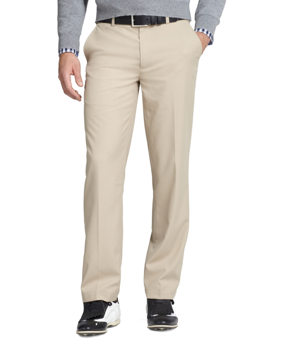 St Andrews Links Plain-Front Golf Pants Khaki