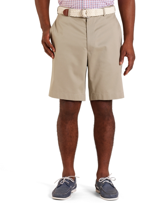 Plain-Front Lightweight Advantage Shorts Khaki