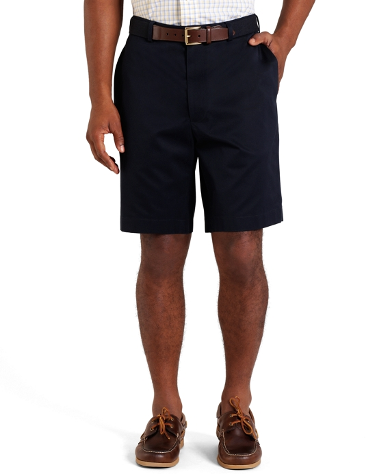 Plain-Front Lightweight Advantage Shorts Navy