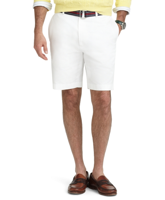 Plain-Front Lightweight Advantage Shorts White