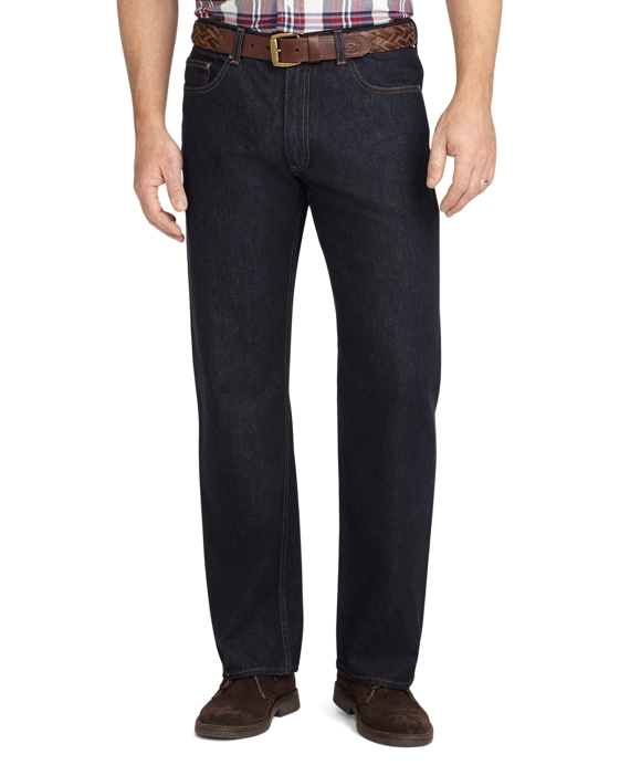 Relaxed Fit Five-Pocket Supima® Denim Rinse Wash