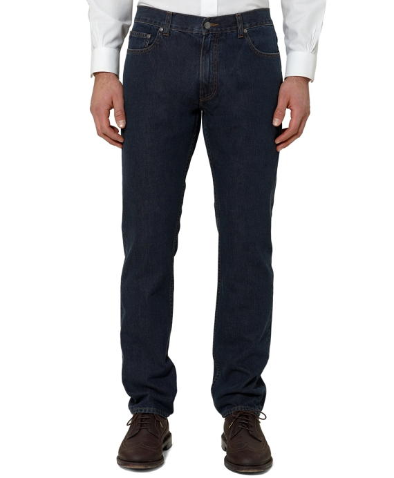 Slim Fit Five-Pocket Supima® Denim Dark Wash