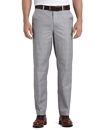 St Andrews Links Plain-Front Mini Houndstooth Pants