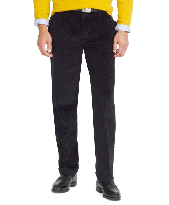 Thompson 8-Wale Corduroy Pants Black