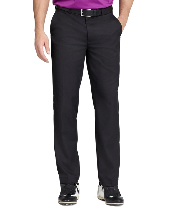 St Andrews Links Plain-Front Golf Pants Black
