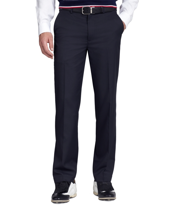St Andrews Links Plain-Front Golf Pants Navy