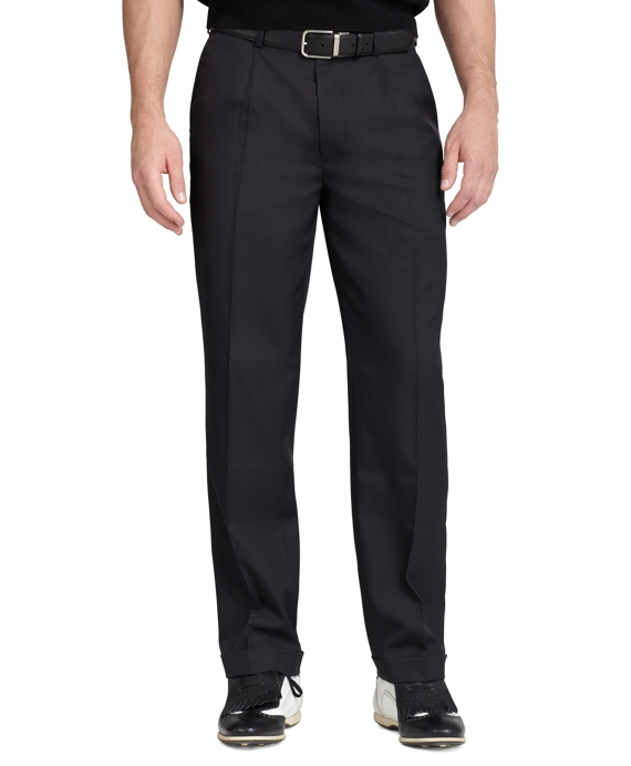 St Andrews Links Pleat-Front Golf Pants Black