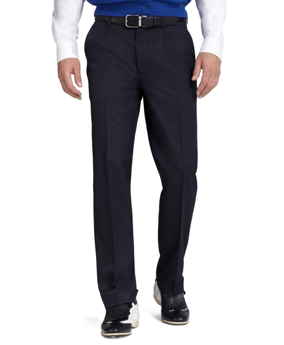 St Andrews Links Pleat-Front Golf Pants Navy