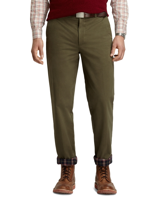 Clark Fit Flannel Lined Vintage Chinos Dark Green