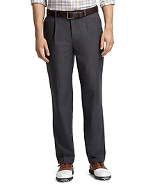 St Andrews Links Pleat-Front Grey Golf Pants