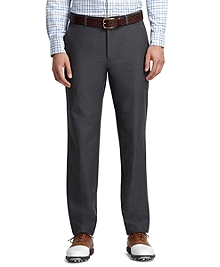 St Andrews Links Plain-Front Grey Golf Pants
