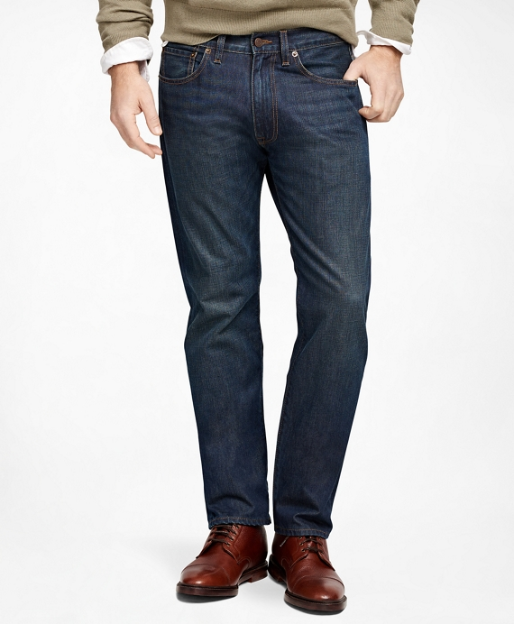 Supima® Denim Straight Fit Jeans