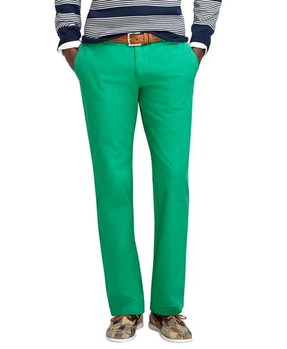 Milano Fit Garment-Dyed Chinos Simply Green
