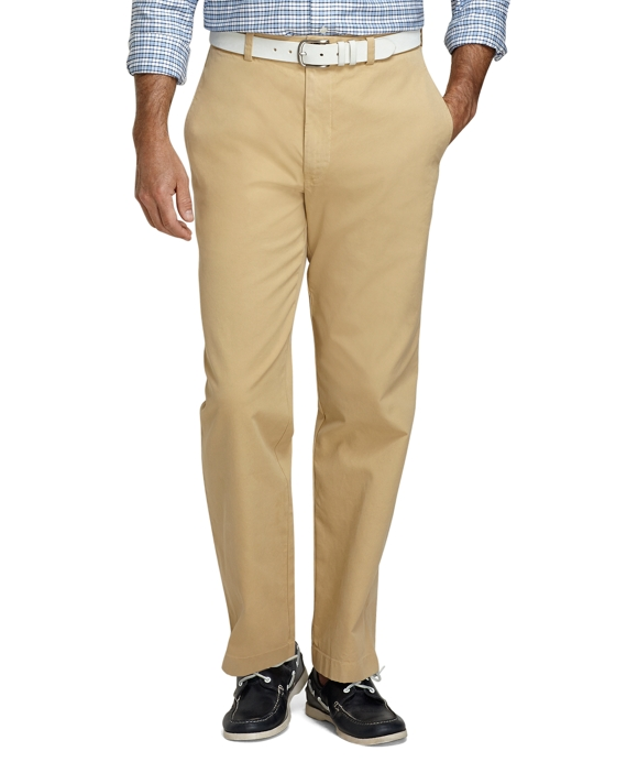 Hudson Fit Garment-Dyed Chinos Khaki