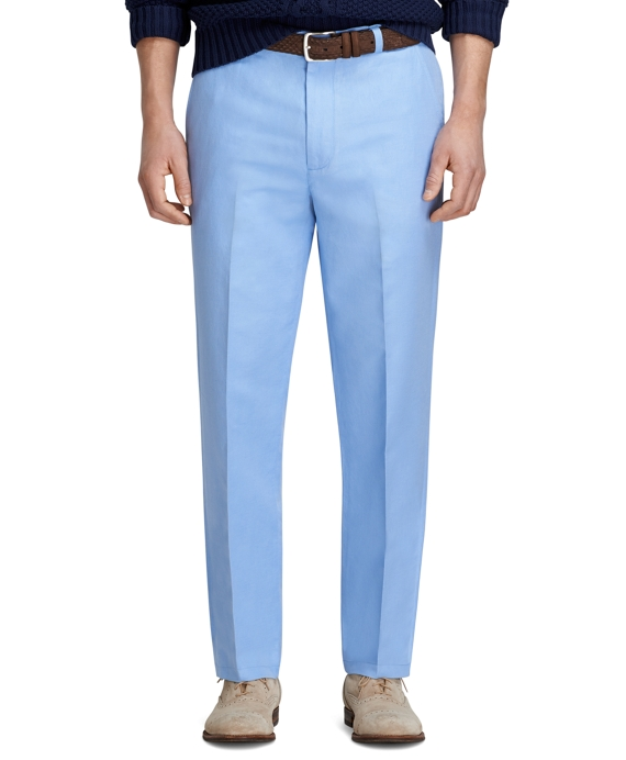 Clark Fit Linen and Cotton Pants Belair Blue
