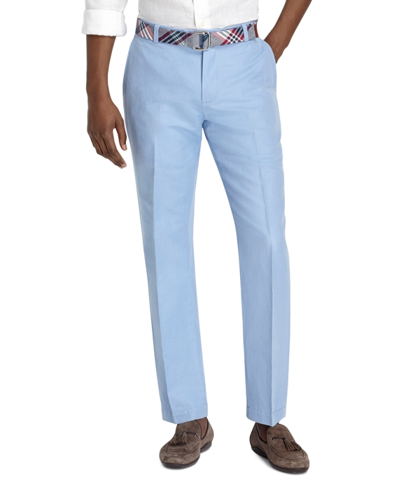 Milano Fit Linen and Cotton Pants Belair Blue