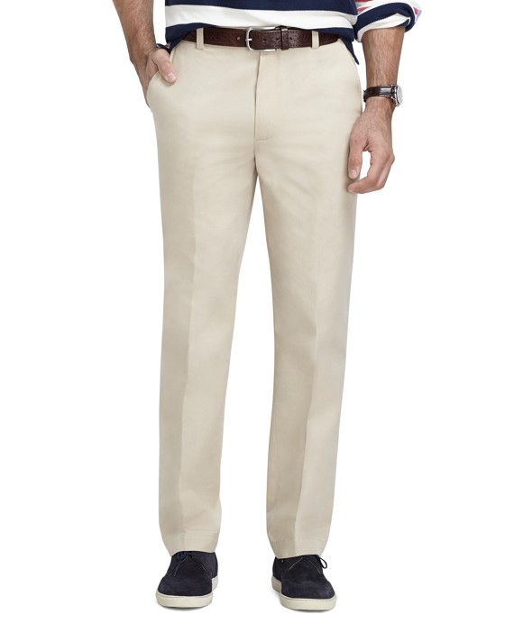 Clark Fit Supima® Cotton Poplin Pants Stone