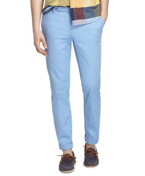 Slim Fit Plain-Front Chinos Belair Blue