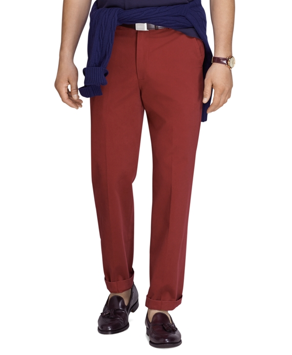Clark Fit Vintage-Finish Chinos Red