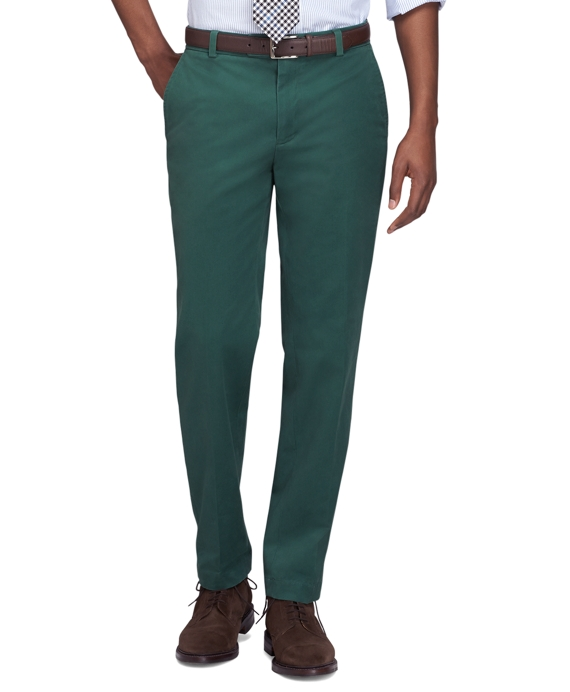 Milano Fit Vintage Washed Chinos Green