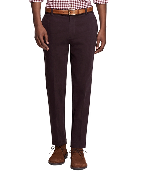 Men's Extra Slim Fit Brushed Twill Pants   Brooks Brothers