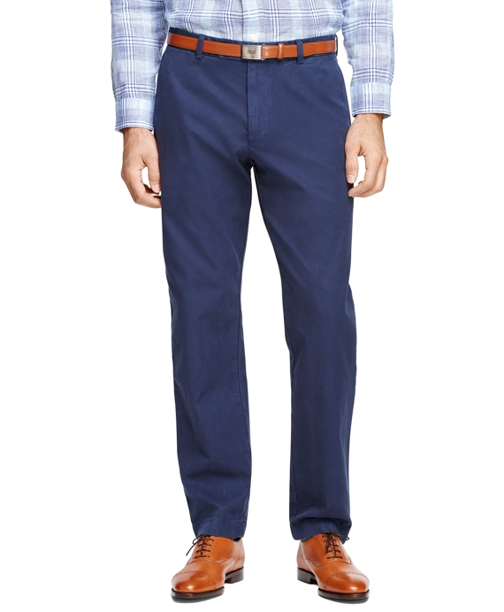 Milano Fit Garment-Dyed Chinos Navy