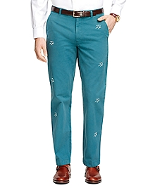Clark Fit Seagull Embroidered Chinos