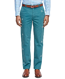Milano Fit Seagull Embroidered Chinos