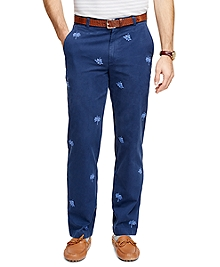 Clark Fit Tropical Embroidered Chinos