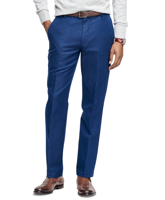 Milano Fit Linen and Cotton Pants Navy