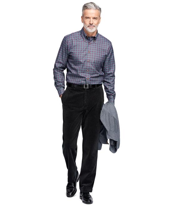 Men's Hudson Fit 8-Wale Corduroy Pants | Brooks Brothers