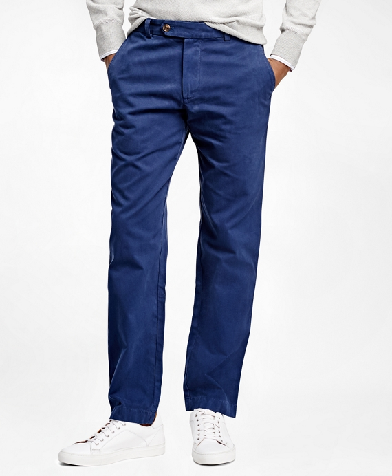 Milano  Fit Garment-Dyed Chinos Dark Blue